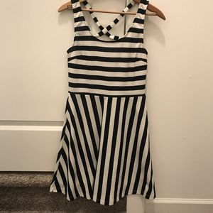 H&M Navy and White Striped Dress size 6
